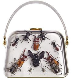Prada collaboration with Damien Hirst produces creepy Entomology bags
