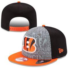 Mens New Era Black Cincinnati Bengals 2014 NFL Draft 9FIFTY Snapback Hat - NFLShop.com