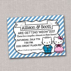 Invitation For A Hello Kitty Shower