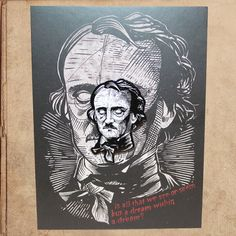 Edgar Allan Poe hart Emaille Pin 15 auf Karte von milestogoclothing