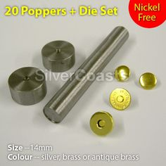 Hand held tools and poppers or rivets, leather craft or sewing: this one is for magnetic poppers. http://r.ebay.com/ZjOh88 Ideal for DIY, or some small jobs, repair etc. many more other bundle options in the eBay shop, please browse.