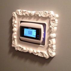 My framed thermostat... $5 Ikea frame!