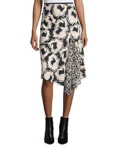 DIANE VON FURSTENBERG Petite Posey Printed Wrap Skirt. #dianevonfurstenberg #cloth #