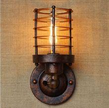Appliques en amérique Vintage Wall Light côté lampe Loft industriel applique murale escalier lumière Lamparas De Pared pour l'éclairage De la maison(China (Mainland))