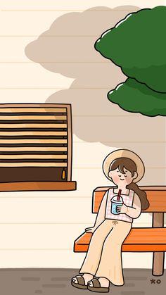 Cute Pastel Wallpaper, Soft Wallpaper, Kawaii Wallpaper, Cute Wallpaper Backgrounds, Wallpaper Iphone Cute, Aesthetic Iphone Wallpaper, Aesthetic Wallpapers, Cute Illustration, Character Illustration
