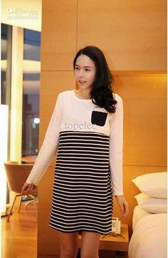 Wholesale Maternity Dress - Buy Maternity Dress Stripe Dresses Fashion  Elegant Pregnant Woman Skirt  9778 9f9c38690e68