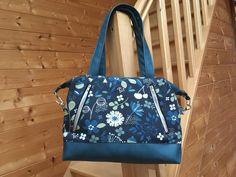 Sac Java bleu fleuri cousu par Sophie - Patron Sacôtin