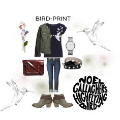"""How Do You Style Bird-Print Tops?"" by kari-clark-dlxii on Polyvore"