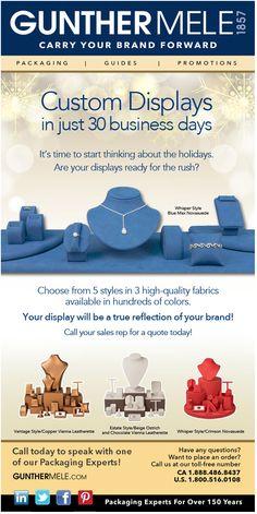 custom jewelry displays gunther mele design blast creative