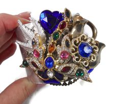 Dragonfly Cuff Bracelet   Vintage Assemblage by InVintageHeaven, $65.00