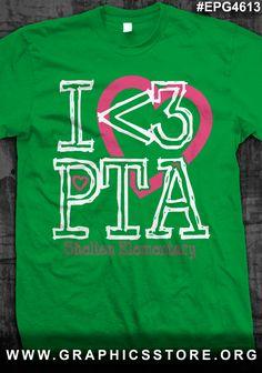 EPG4613 I Love PTA T-Shirt Design