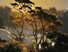 FAP Sunset Above Blue Fish Cove, Pt Lobos by Brian Blood http://dailyartshow.faso.com/20141124/1617611