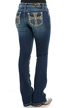 Miss Me Women's Dark Wash Tribal Embroidery Boot Cut Jeans Kevlar Jeans, Latex Fashion, Steampunk Fashion, Gothic Fashion, Bling Jeans, Women Wear, Ladies Wear, Junior Fashion, Cowgirl Outfits