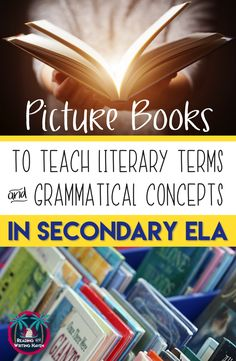 Read this two-part series about specific picture book titles you can use to discuss meaningful examples of why authors use punctuation and literary devices in their picture books. These free lesson ideas are perfect for middle school and high school ELA. #picturebooks #englishlessons