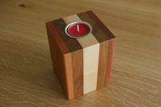 Kerzenständer aus den Holzarten Bangkirai-Nussbaum-Ahorn-Nussbaum-Massaranduba Types Of Wood, Handmade, Dekoration