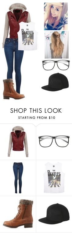 """""""~gf~"""" by kawiwi on Polyvore featuring LE3NO, Wet Seal, Charlotte Russe and Volcom"""
