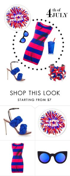 """""""Happy 4th"""" by neverboring ❤ liked on Polyvore featuring Marco de Vincenzo and Moschino"""