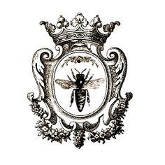 écusson abeille /couronne