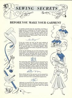 How to put a garment together   Coletterie
