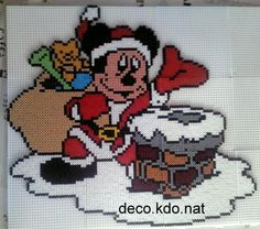 Mickey Christmas hama beads by decokdonat