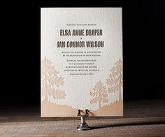 Letterpress Wedding Invitations | Adirondack Design | Bella Figura Letterpress