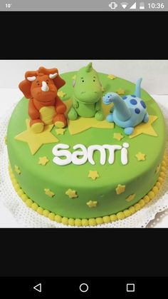 Torta dinosaurios bebes Diy 1st Birthday Party, Dinosaur First Birthday, Leo Birthday, 4th Birthday Cakes, Dino Cake, Dinosaur Cake, Novelty Cakes, Cakes For Boys, Cupcake Cakes