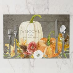 Shop Thanksgiving Harvest Watercolor Rustic Farmhouse Paper Placemat created by EverythingWedding. Personalize it with photos & text or purchase as is! Thanksgiving Celebration, Thanksgiving Traditions, Thanksgiving Gifts, Thanksgiving Recipes, Thanksgiving Placemats, Mini Pumpkins, White Pumpkins, Shiplap Wood, Pumpkin Images