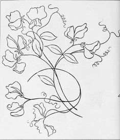 Grand Sewing Embroidery Designs At Home Ideas. Beauteous Finished Sewing Embroidery Designs At Home Ideas. Simple Hand Embroidery Designs, Hand Embroidery Stitches, Silk Ribbon Embroidery, Embroidery Applique, Cross Stitch Embroidery, Flower Embroidery, Machine Embroidery, Sweet Pea Tattoo, Sweet Pea Flowers