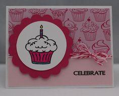 Birthday Doodles cupcake card.