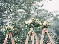 Floral Design: Holly Bryan Floral & Botanical Design. Styling & Event Design: Kate Incer. Cinematography: Incer Studios - www.incerstudios.com  Photography: Laura Leslie Photography - www.lauralesliephotography.com Photography: Gracie Blue Photography - www.grblue.com  Read More: http://www.stylemepretty.com/2014/04/24/enchanted-winter-wedding-inspiration/