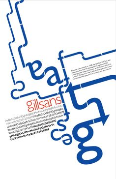 Gill Sans Typographic Poster by Vanessa Brown, via Behance