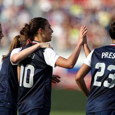 Team USA vs. Russia, Feb. 8, 2014. The United States won 7-0. (Marc Serota/Getty Images)