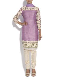 Aashni + Co - Raw manish malhotra silk kurta with pearls