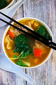 Wor Wonton Soup with Homemade Wontons | http://cookswithcocktails.com/wor-wonton-soup-with-homemade-wontons/