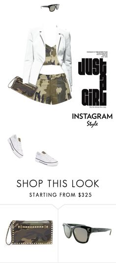 """Instagram style #685"" by meryflower ❤ liked on Polyvore featuring River Island, Valentino, valentino, camo, 60secondstyle and PVShareYourStyle"
