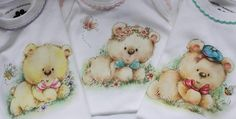Folk Art, Diy And Crafts, Onesies, Creations, Teddy Bear, Kids, Baby, Design, Glass Paint