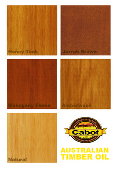 Cabot Stain's Australian Timber Oil, famous for bringing both color depth and water repellency. A beautiful hardwood stain that is a consumer favorite!