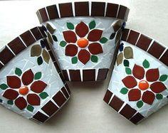Jogo 3 vasos de parede tamanho médio