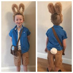 Bunny Costume Kids, Bunny Halloween Costume, Giraffe Costume, Kids Costumes Boys, Cute Costumes, Halloween Costumes For Kids, Costume Ideas, Kids Book Character Costumes, Book Character Day