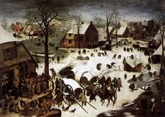 Batailles de boules de neige au Moyen Age The Census at Bethlehem by Pieter Bruegel the Elder 1566 720x514 histoire bonus