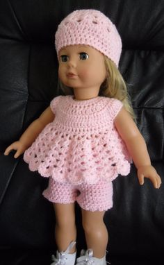 This pattern is for a dress, shorts and hat set. It uses dk yarn and a 4mm hook. The pattern is in a PDF format and will be emailed upon receipt of