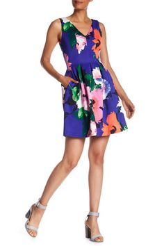 afdcc64ea3 Sleeveless Fit   Flare Floral Print Dress by Vince Camuto on. Nordstrom  DressesFit ...