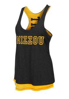 Missouri Tigers Womens Black Tigers Duo Tank Top- $35