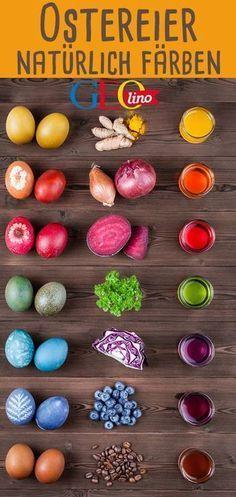 Ostereier natürlich färben - GEOlino zeigt, wie's geht! #ostern #ostereier #basteln #bastelnmitkindern osterbasteln