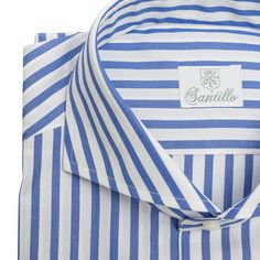 You never have too many really nice striped shirts.a collection from SANTILLO 1970 Bespoke Shirts Handcrafted in Italy would be a fine holiday gift. Dress Shirt And Tie, Dress Shirts, Italian Shirts, Bespoke Shirts, Men Formal, Making Shirts, Gentleman Style, Cool Shirts, Shirt Style