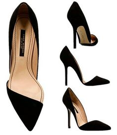 The timeless evening shoe. It's stunning with either a dress, or with wool cigarette trousers.