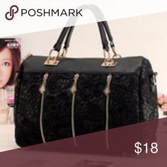 |NEW| Mini-Traveler 33 cm x 12 cm x 24 cm faux leather & lace w/zipper & pocket accents Goodchic Bags Travel Bags
