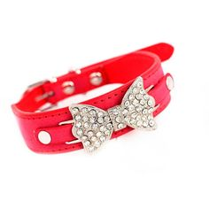cat collar,Pikolai Dog Collar Bling Crystal With PU Leather Bow Necklace cat Puppy Cat New * Additional details at the pin image, click it  : Cat Collar, Harness and Leash