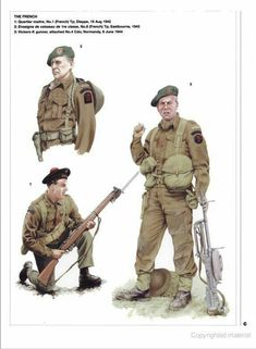 "No 10 (Inter-Allied) Commando, - ""This was the largest of Britain's raiding units. Composed of volunteers from Europe's occupied countries. This is one of eight plates produced for Osprey's Elite 142 ""No 10 (Inter-Allied) Commando Art by Rob Chapman British Army Uniform, British Uniforms, British Soldier, Ww2 Uniforms, Military Uniforms, Navy Uniforms, Military Photos, Military Art, Military Diorama"