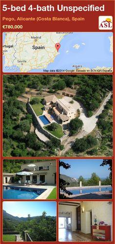 5-bed 4-bath Unspecified in Pego, Alicante (Costa Blanca), Spain ►€780,000 #PropertyForSaleInSpain